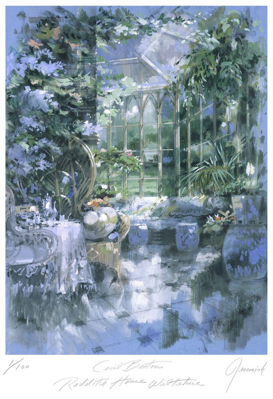 El jardín de invierno en Redditch House, la casa de Cecil Beaton en Wiltshire